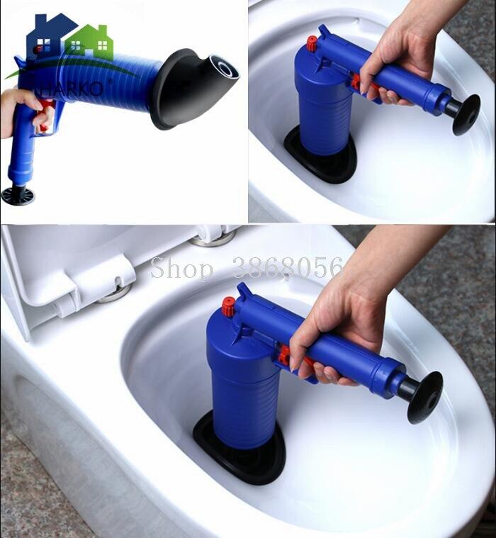 Toilet Dredge High Pressure Air Blowing The Drain Blaster
