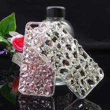 Роскошные Bling Crystal Rhinestone Чехол для iPhone 6 6 S 7 Плюс 5 5S SE Женская Алмаз DIY Чехол для 6 Плюс 7 плюс 3D случаях
