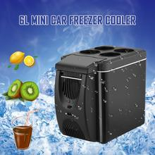 12V Car Refrigerator Freezer Heater 6L Mini Cooler Electric Fridge Portable Icebox Travel