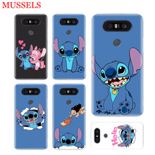 Stitchs Blue Silicome Phone Case For LG V40 G6 G7 Q6 Q8 Q7 G5 G4 V30 V20 V10 K8 K10 2018 2017 Patterned Customized Cases Coque