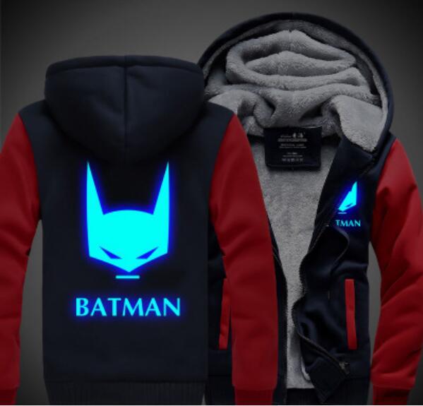 Batman Arkham Knight Dark Knight Rises joker Cosplay Costume thicken fleece jacket coat hoodie