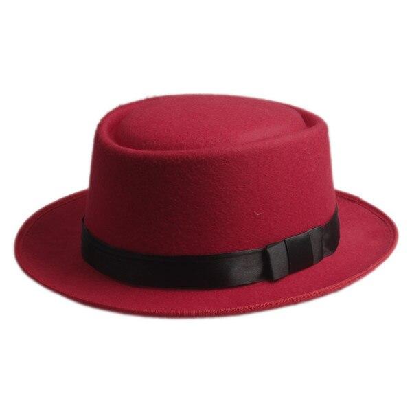 9 цветов, унисекс, женская, мужская шляпа от солнца, фетровая шляпа, свинина, пирог, крушаемая шляпа, ломающаяся Панама, BB шляпа, Уолтер Уайт ХАЙЗЕНБЕРГ, 25 - Цвет: red