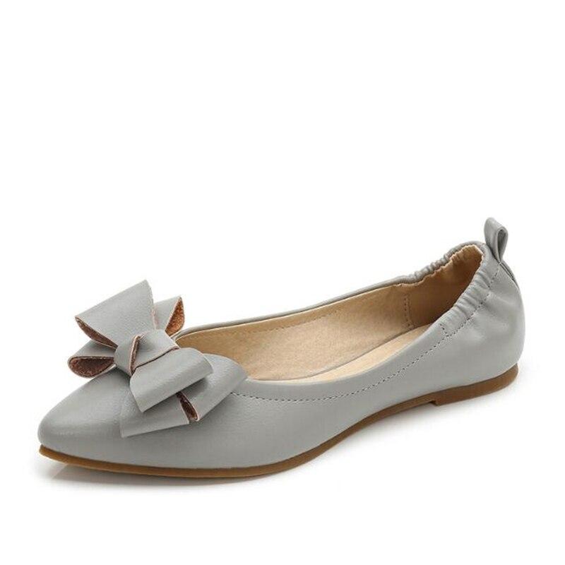 Boca Suave Fondo Negro Arco Casuales Zapatos Planos Decoración Otoño Moda De 2019 Mujeres Las Baja Nuevo gris apricot Sh469 Solo wTqfnwYZ