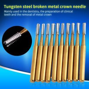 Image 4 - 10 pcs שיניים FG1957 טונגסטן פלדה כתר מתכת חיתוך Burs במהירות גבוהה Handpiece כלים רופא מעבדה ציוד