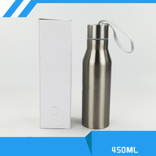 Blank Sublimation 450ml thermos Bottle Cup Transfer Prtinting by Sublimation INK DIY Transfer Heat Press Printing Machine