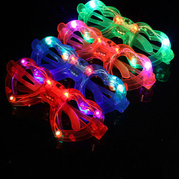 Hot Sale Flashing Party LED Light Glasses for christmas Birthday Halloween party decoration supplies glow glasses 100pcs