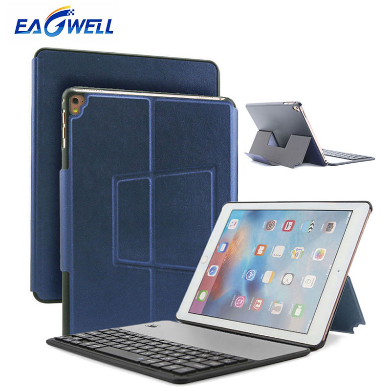 Bluetooth Keyboard Leather Case For iPad Air 1 2 for New iPad 9.7 2017 2018 Pro 9.7 iinch Tablet Keyboard Cover Protective Case detachable keyboard case smart cover for ipad 9 7 2017 2018 pro air 2 1 3 in 1 functionality keyboard with protective case a30