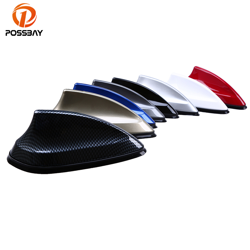 POSSBAY Car Antenna Shark Fin Antenna Radio FM Signal Aerials for VW Polo Ford Kuga Chevrolet Cruze Nissan qashqai Peugeot