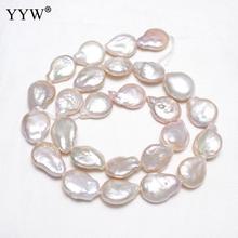 81ce90ffdd16 YYW de alta calidad cultivadas barroco perla de agua dulce perlas naturales  Blanco 11-12mm aprox 0