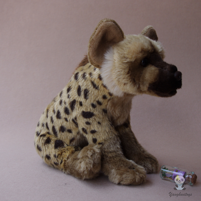 Simulation African Hyena Plush Toy Spot Hyenas Dogs Doll Security Kids Toys Gifts Shops stuffed wild doll toys african wolf spotted hyenas simulation animals plush toy children dolls rare