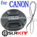 58mm Centro Pitada Snap-on Lens Cap Frente para CANON Lente