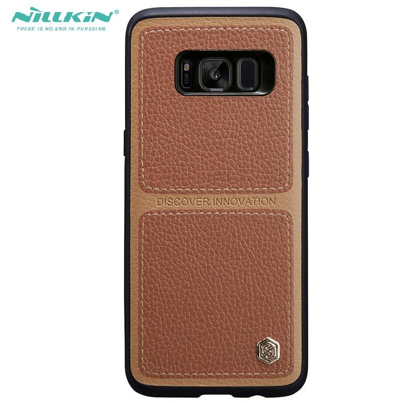 Nillkin Lichee Leather Cover For Samsung font b galaxy b font font b s8 b font