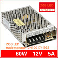 60W 12V 5A LED Switching Power Supply,For LED Strip light,85-265AC input, power suply 12V  Output in stocks