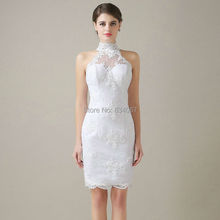 New Stunning White Lace Short Wedding Dress