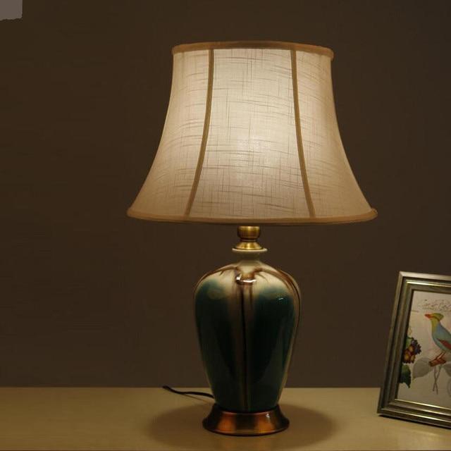 Vintage Chinesisches Porzellan Keramik Tischlampe Schlafzimmer, Wohnzimmer