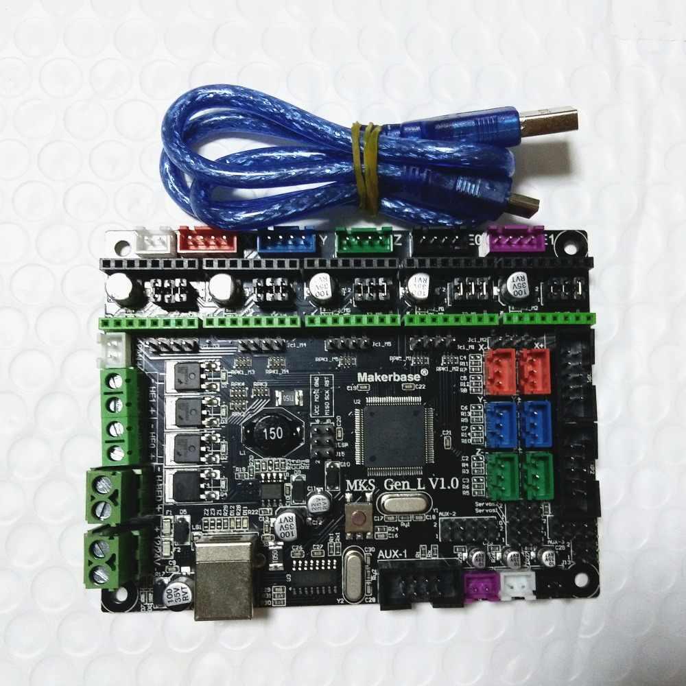 Makerbase MKS GEN L V1 0 3D printer card control mainboard support a4988  DRV8825 tmc2100 tmc2208 lv8729 tb6600 dual extruder
