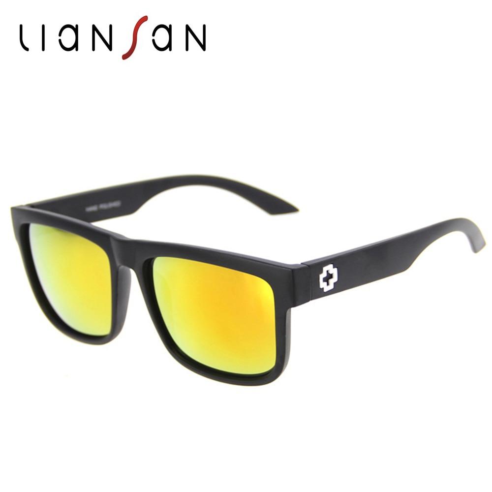 LianSan Vintage Retro font b Polarized b font Square Plastic Sunglasses Women Men Brand Designer font