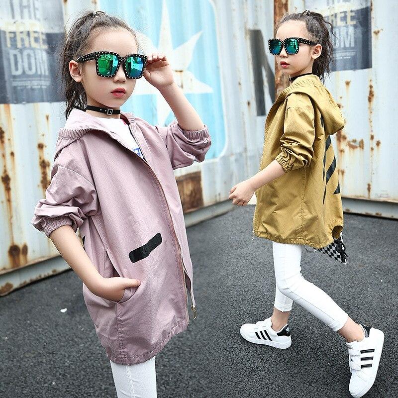weiqinniya Girls Jackets Windbreaker Jackets For Girl Fashion Children Long Sleeve Hooded Coat Casual Girls Geometric Jacket Kid