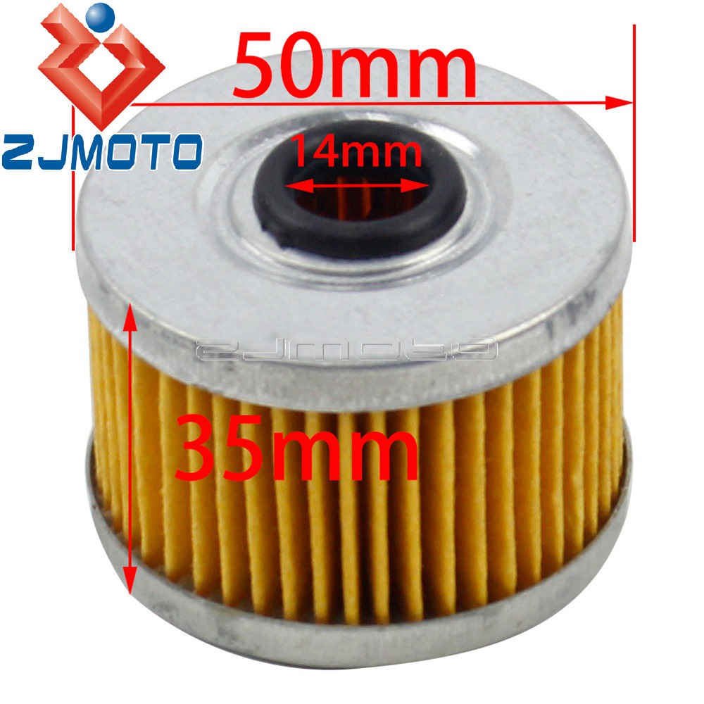 1x Motorcycle HF113 Oil Filter For Honda VT125 C C2 Shadow 1999-2008 XL125 V Varadero 2001-2014 SXS500 M Pioneer 500 2001-2014 image
