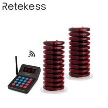 Restaurant Coaster Pagers Wireless Waiter Calling Paging System 433.92MHz 999 Channel Buzzer Beepers Customer Service Equipment цены онлайн