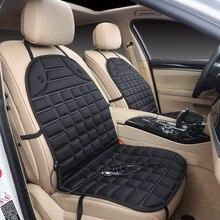 12V araba ısıtmalı koltuk minderi araba Van ön koltuk sıcak isıtıcı isıtmalı ped yastık kış isıtıcı kapak siyah
