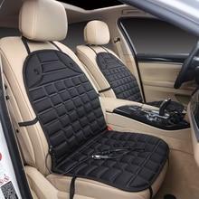 12V podgrzewana poduszka na siedzenie samochodowe samochód dostawczy przednie siedzenie gorąca podgrzewacz podgrzewana podkładka poduszka ocieplacz na zimę pokrywa czarny