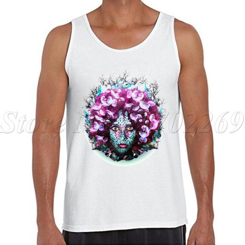 2017 New Fashion Alien Nature Design Men Tank tops Retro Flower printed Summer Vest