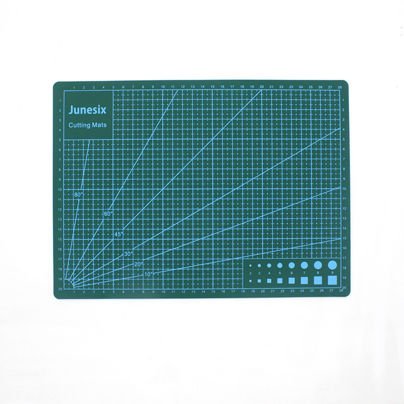 A4 PVC Color Cutting Mat Patchwork Pad Artist Sculpture Manual Cut Tool DIY Double-sided Self-healing Soft Writing Carving Board