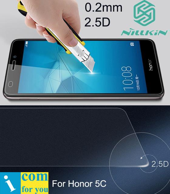 Nillkin Increíble H + Pro 5C Vidrio Templado Para Huawei Honor GT3 0.2mm 2.5D 9 H Arco redondo cruved borde