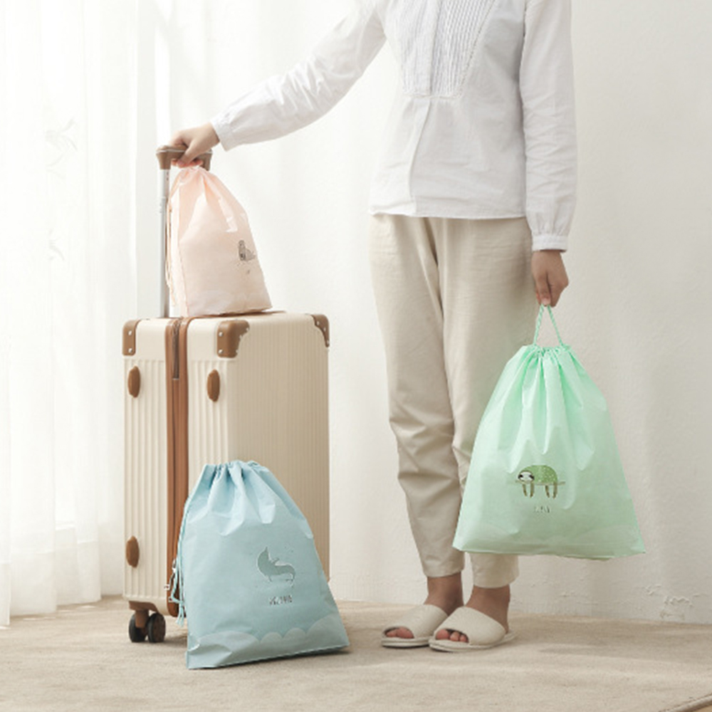 Organizer Bag Shoes Underwear Separate-Bags Pocket-Set Drawstring-Clothing Travel-Bundle