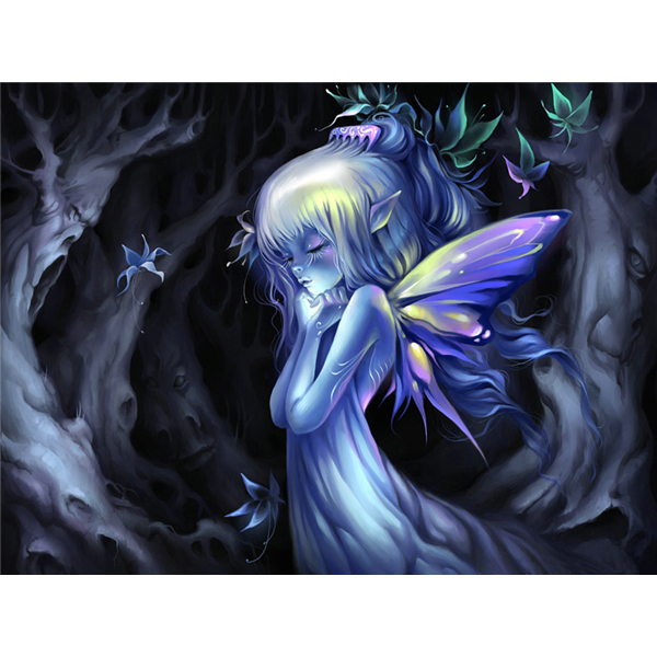 5d Butterfly Fairy diamond painting characters picture needlework rhinestone DIY cross stitch diamond embroidery Crafts M630