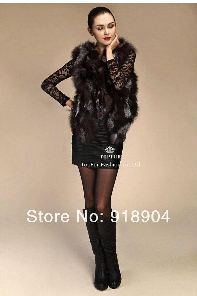 Réel Les De Toutes Renard Mode Gilet Fourrure Tailles Femmes Naturel Veste New Genuine Personnalisé 5U7qf7S