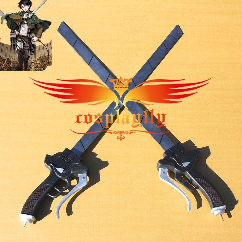 Attack on Titan Shingeki no Kyojin & Scouting Legion Levi Rivaille Rival Ackerman Cosplay Prop Sword Acrylic Pvc