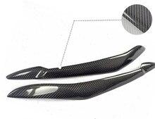 2 unids/set Cubierta Ligera Principal de La Lámpara Frontal de Fibra de Carbono de Párpados Párpados Cejas Para BMW X5 E70 2007-2013