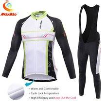 Malciklo 2017 Conjunto Maillot ropa de Ciclismo Pro Tela Larga Jersey de La Bici Ropa Ciclismo Traje de Invierno Térmica Pantalones Mantener Caliente
