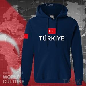 Image 4 - كنزة رياضية رجالية بغطاء للرأس موديل 2017 من تركيا ملابس خروج جديدة للهيب هوب سترات رياضية بعلم الأمة التركية من الصوف للأتراك TR