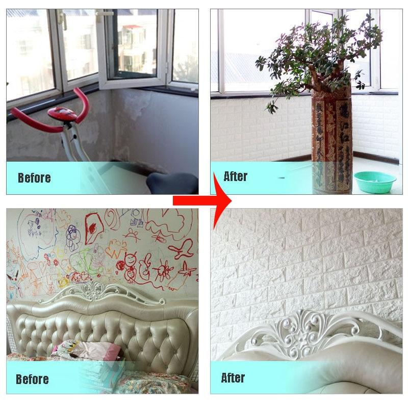 diy self adhesive 3d wall stickers bedroom decor foam brick room decor wallpaper wall decor living - Brick Kids Room Decor