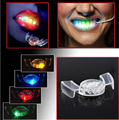 2015 hot Halloween LED Flash Light Mouth Guard toys 5 Colors Party Glowing Tooth Toy decorate club Fashion dress free shipping