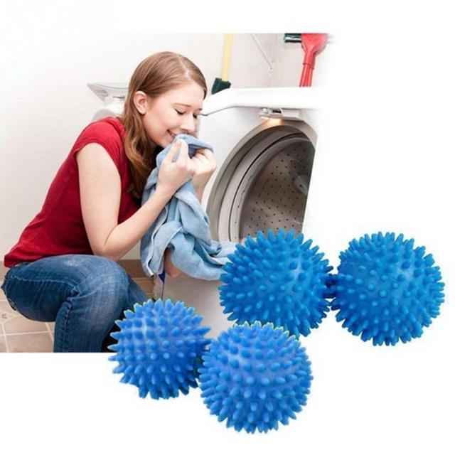 1 pz PVC Blu Ammorbidire Panno Asciugatura Lavaggio Lavanderia Dryer Sfera Della