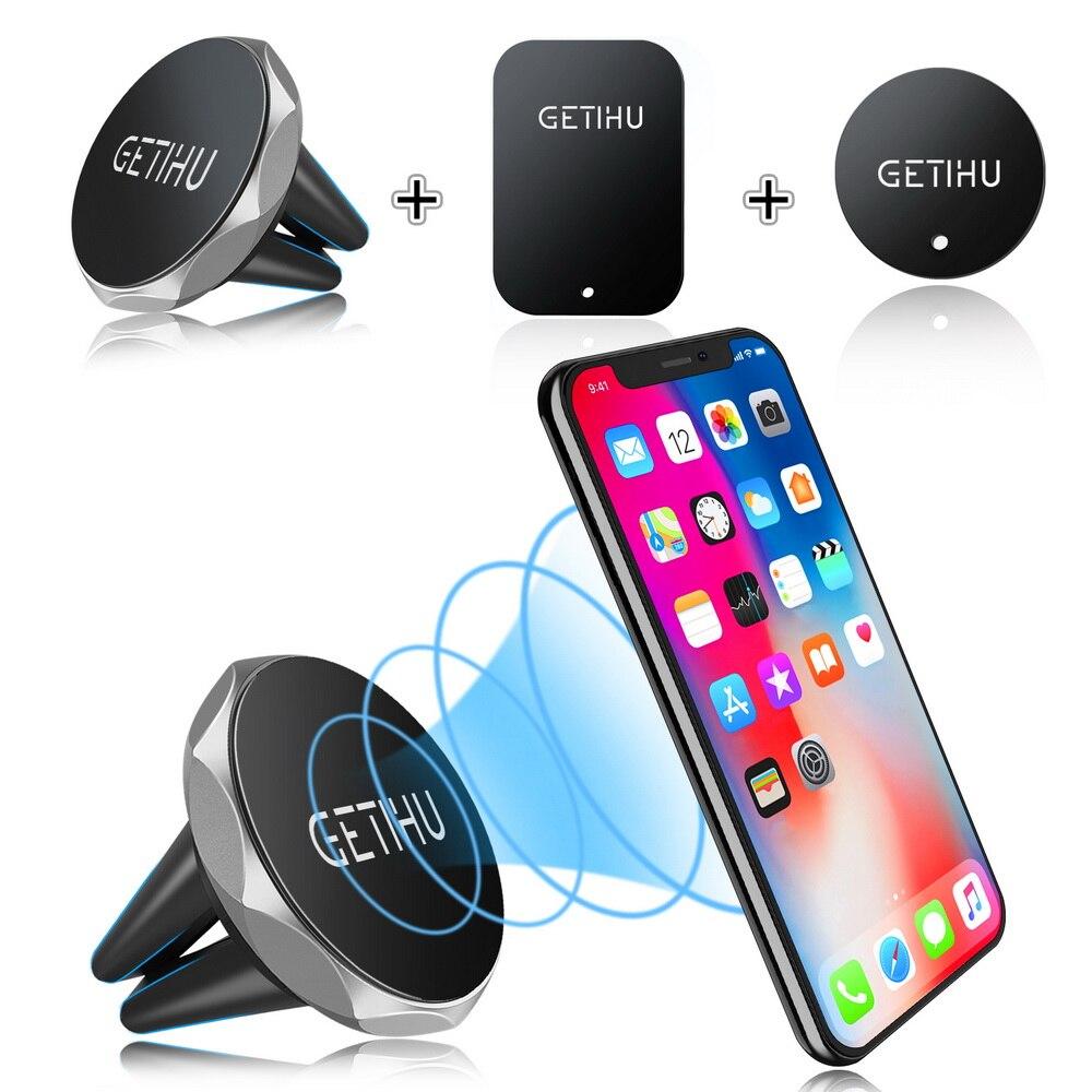 Soporte magnético para teléfono de coche GETIHU soporte magnético para teléfono inteligente móvil soporte magnético celular en coche GPS para iPhone XS Max Samsung