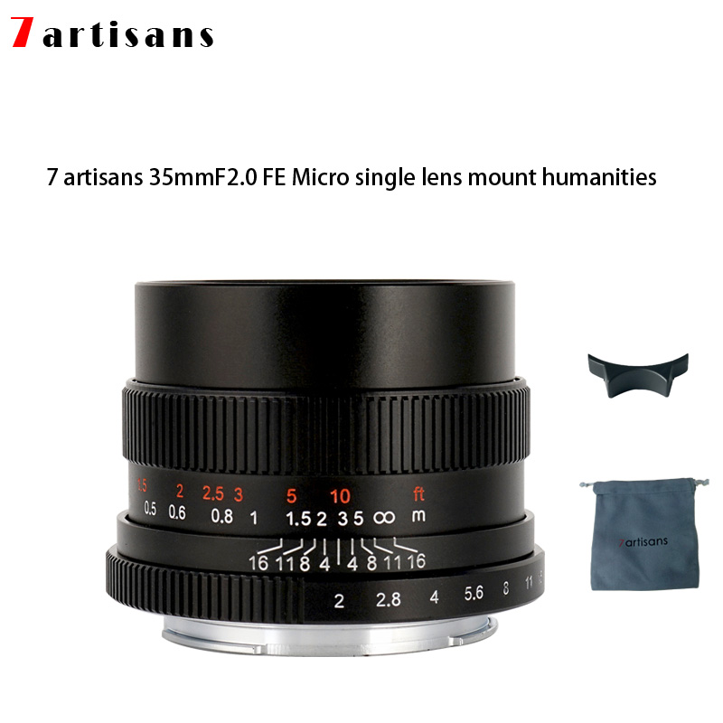 7artisans 35mm f2 0 Prime Lens to All Single Series for E mount FX mount Cameras