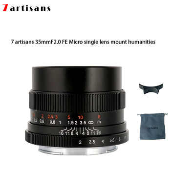 7artisans 35mm f2.0 Prime Lens to All Single Series for E-mount  FX-mount Cameras A7 A7II A7R A7RII A7S A6500 X-A10 X-A2 X-A3 - DISCOUNT ITEM  0% OFF All Category