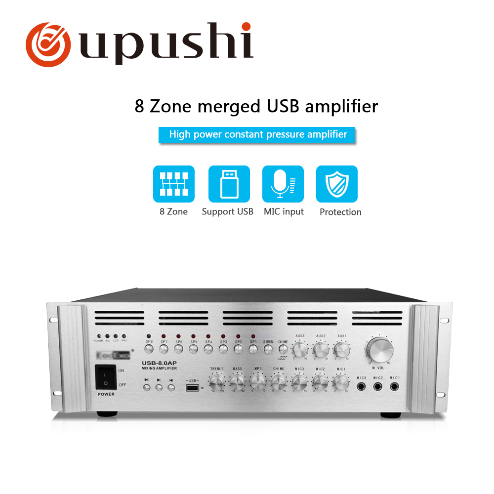 Big Power Amplifier 1500W For PA System 8 Zones Separate ControlBig Power Amplifier 1500W For PA System 8 Zones Separate Control