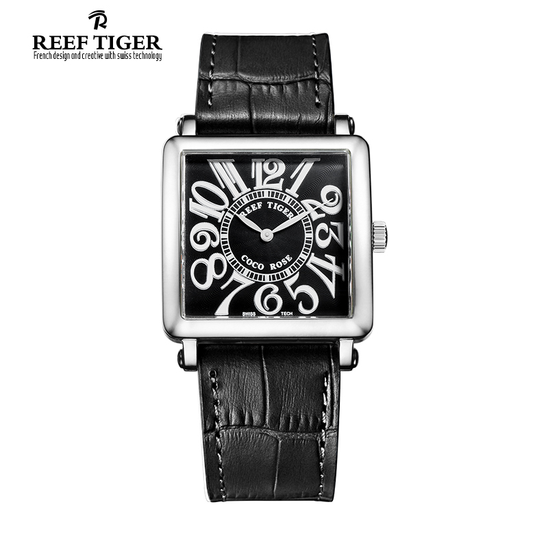 Hot Sale Top Brand Reef Tiger/RT Stainless Steel Quartz Watches New Fashion Casual Watch for Women Leather Strap Watch RGA173 2018 new mce brand quartz watches for women fashion roman numerals simple watch casual stainless steel leather strap clock 002