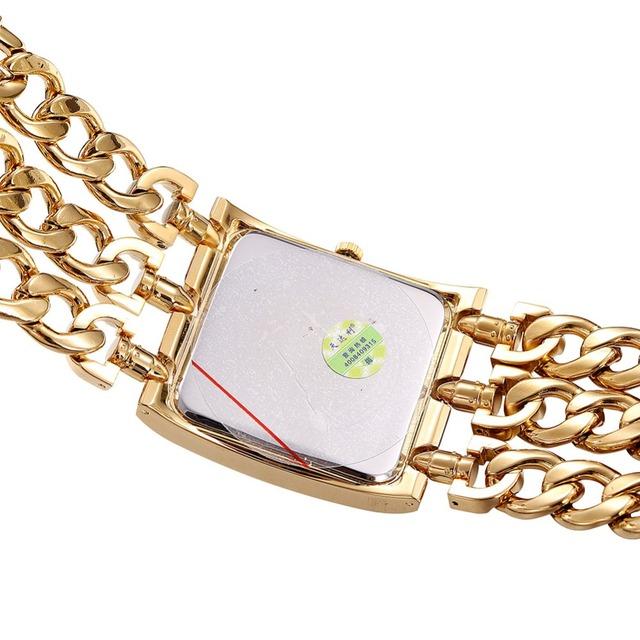 Ladies Gold / Silver Square Dial Bangle Quartz Watch