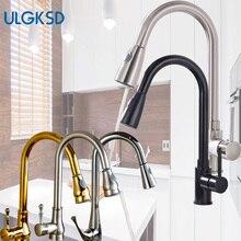 Ulgksd 5 Выбор Одной ручкой вытащить распылитель кухонный кран на бортике горячей и холодной воды краны ванной смеситель кран