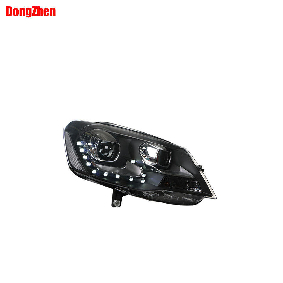 Dong Zhen Car Parts for VW Bora Headlights 2013-2015  with LED bulbs line light with Projector lens h7 car styling new car styling auto h4 led bulb h7 lighting car led 12v lights h4 h7 led lamps light bulbs headlights for cars led headlights