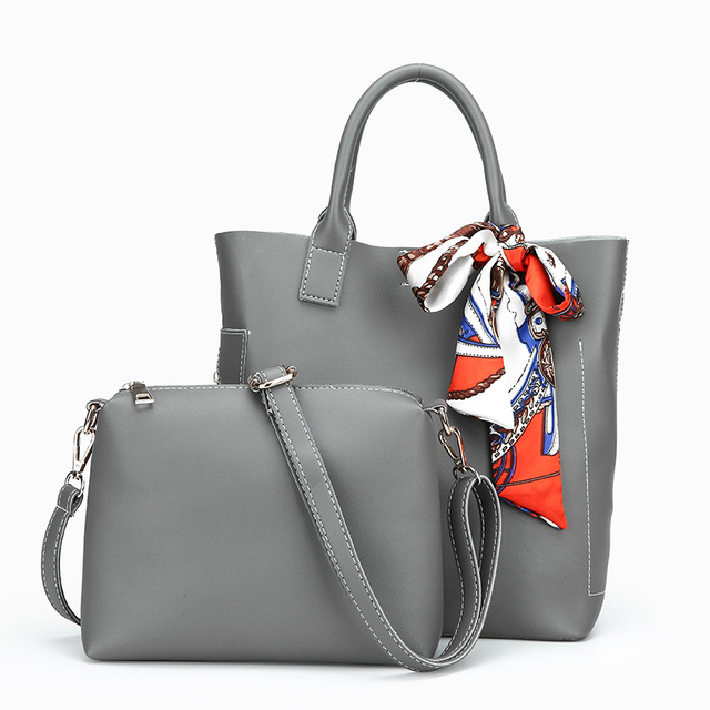 Women Handbag Leather Women Shoulder Bags 2 sets Famous Brand Designer Women Messenger Bags Ladies Casual Tote Bags sac a main