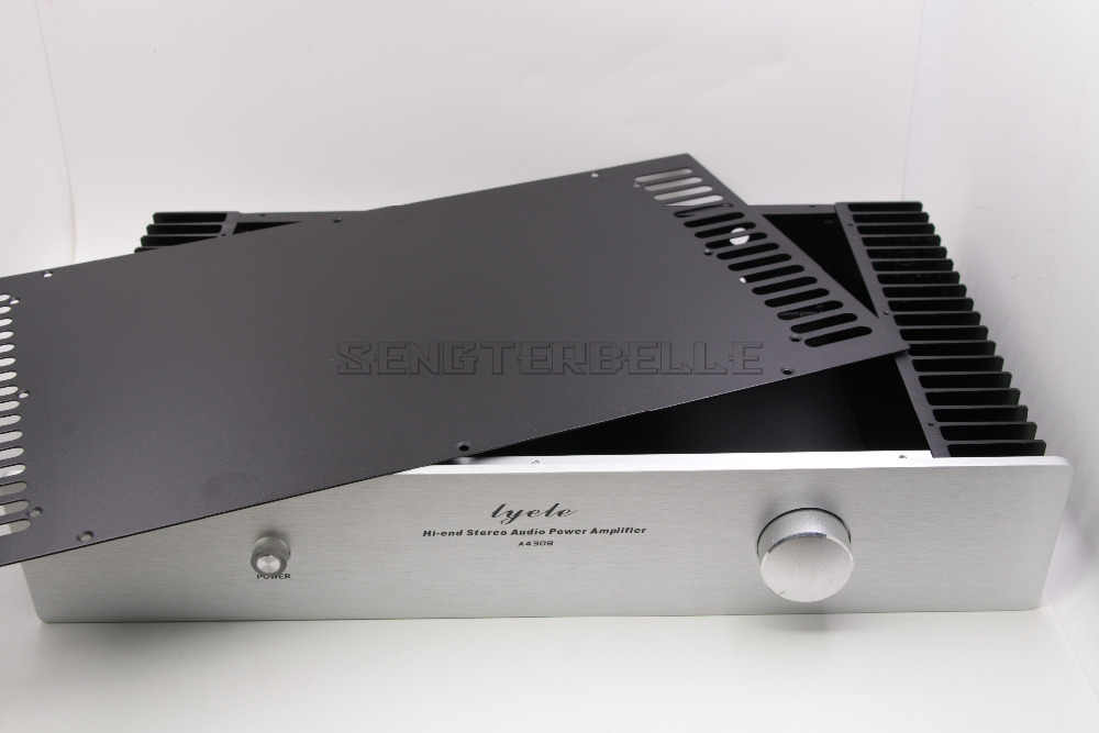 Корпус Шасси усилителя класса А/корпус предварительного усилителя/коробка DIY/обе стороны корпуса радиатора 430*238*80 мм
