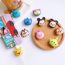 Cable Bite Protector for Iphone Cable Winder Phone Holder Accessory Cable Biters Animal Squishy Doll Model Mickey Minnie cable bite protector for iphone cable winder phone holder accessory chompers rabbit dog cat animal doll model funny